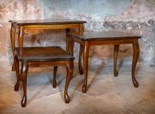 Tavolini rettangolari in stile retrò