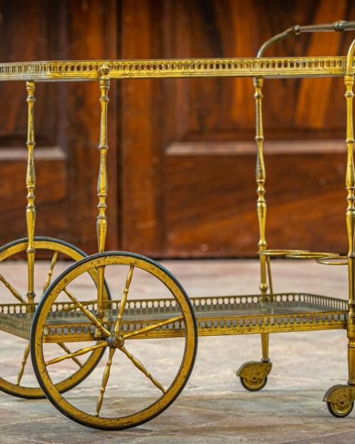 Carrellino vintage in ottone