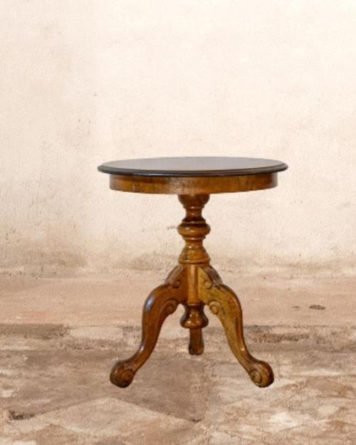 Tavolino tondo stile barocco