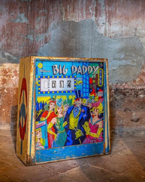 Vecchio Flipper Big Daddy in legno anni '60