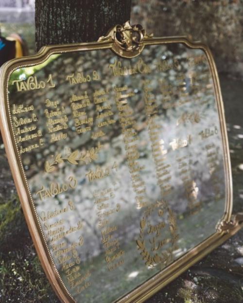 Specchio vintage tableau de marriage