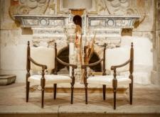 Poltroncina trono bianca