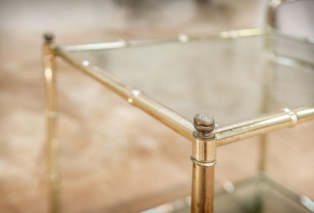 Carrellino bambù in ottone